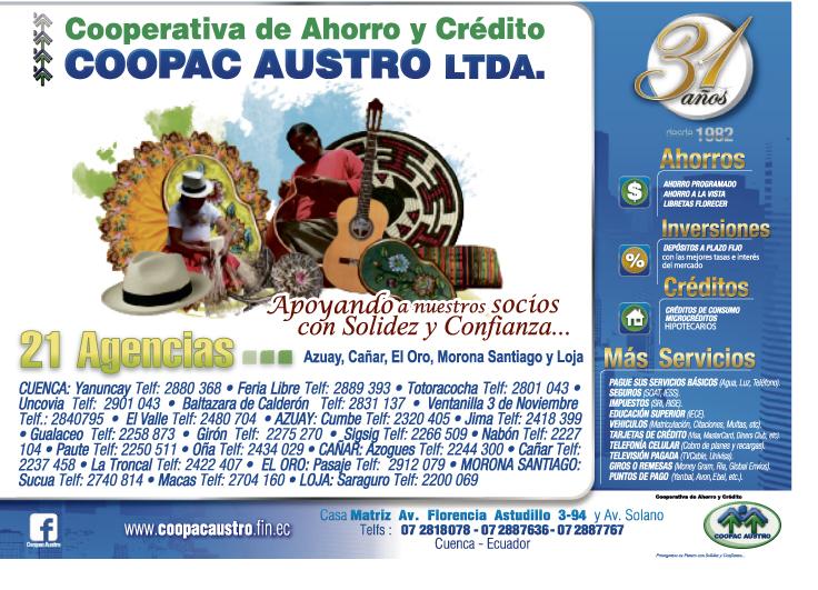 Cooperativa de ahorro y credito jardin azuayo sigsig for Jardin azuayo