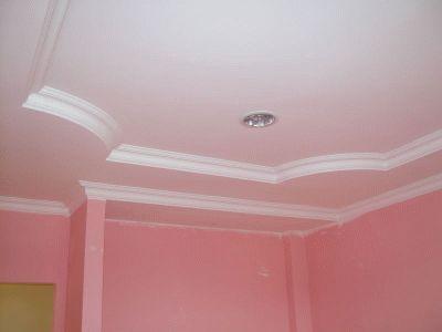 Molduras para gypsum imagui for Modelos de cielo raso para salas