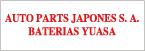 Baterias Yuasa Auto Parts Japones-logo