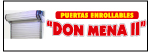 "Puertas Enrollables ""Don Mena II""-logo"