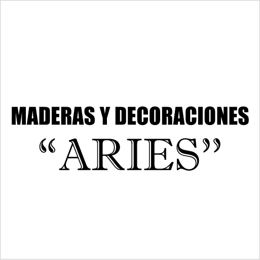 "Maderas y Decoraciones ""Aries""-logo"