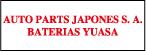 Logo de Baterias+Yuasa+Auto+Parts+Japones+S.A.