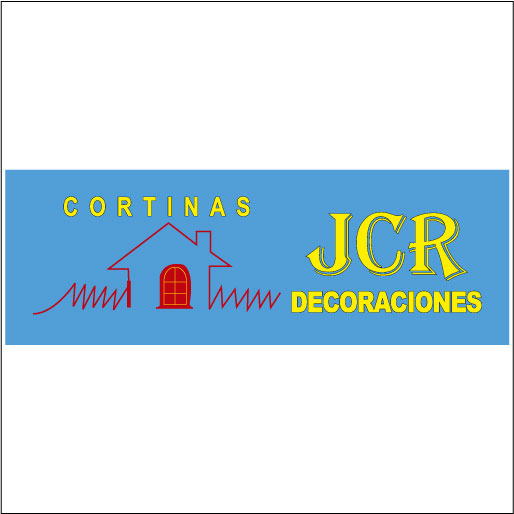 Logo de Cortinas+JCR+Decoraciones