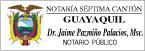 Logo de Notar%c3%ada+S%c3%a9ptima+del+Cant%c3%b3n+Guayaquil