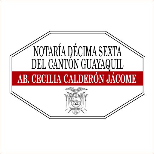 Logo de Notar%c3%ada+D%c3%a9cima+Sexta+(16)+de+Guayaquil